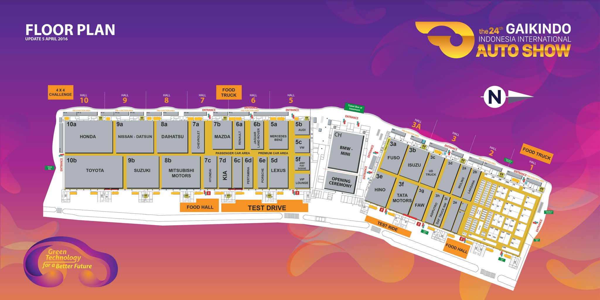 GIIAS 2016 Floorplan