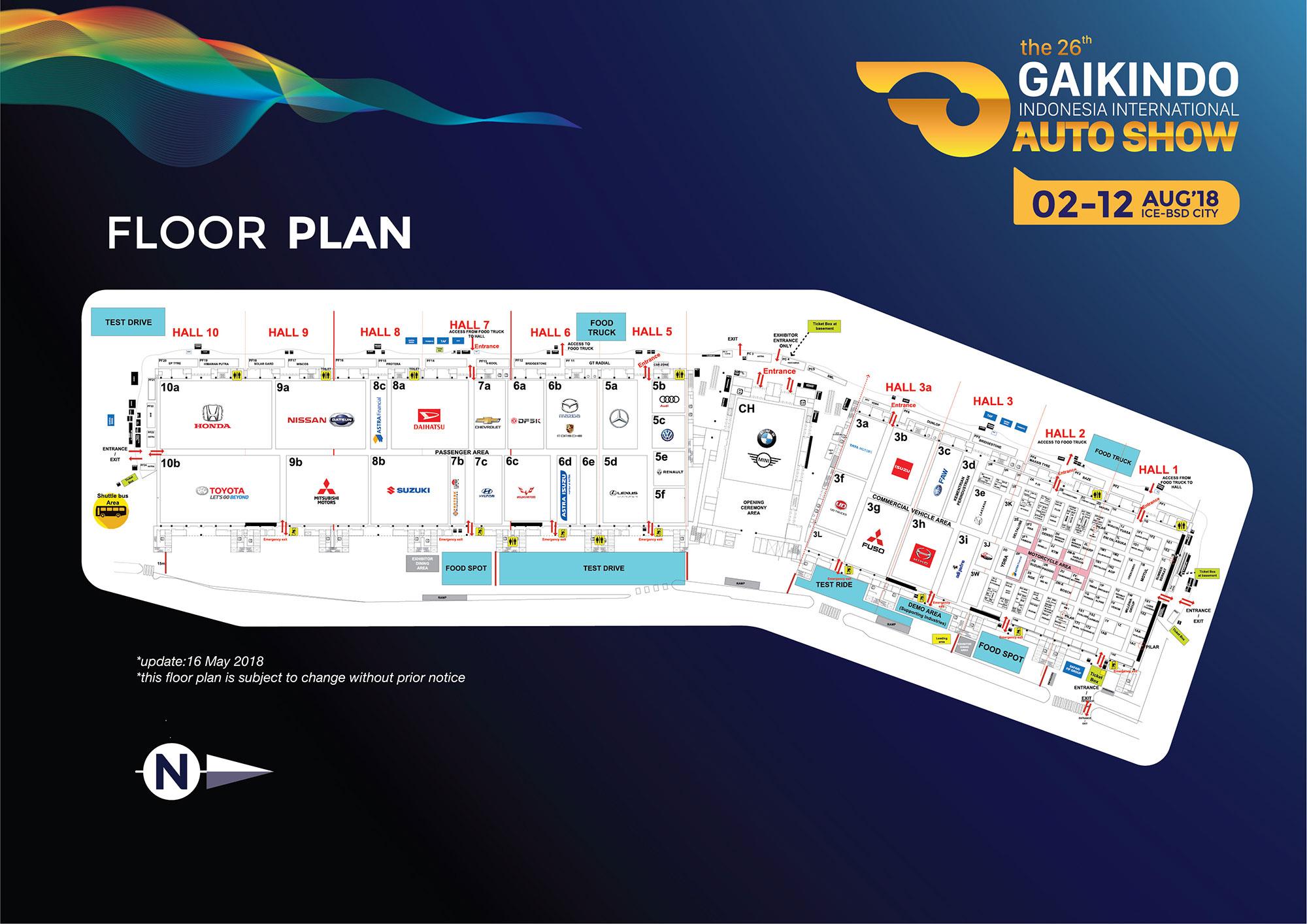 Floorplan GIIAS 2018