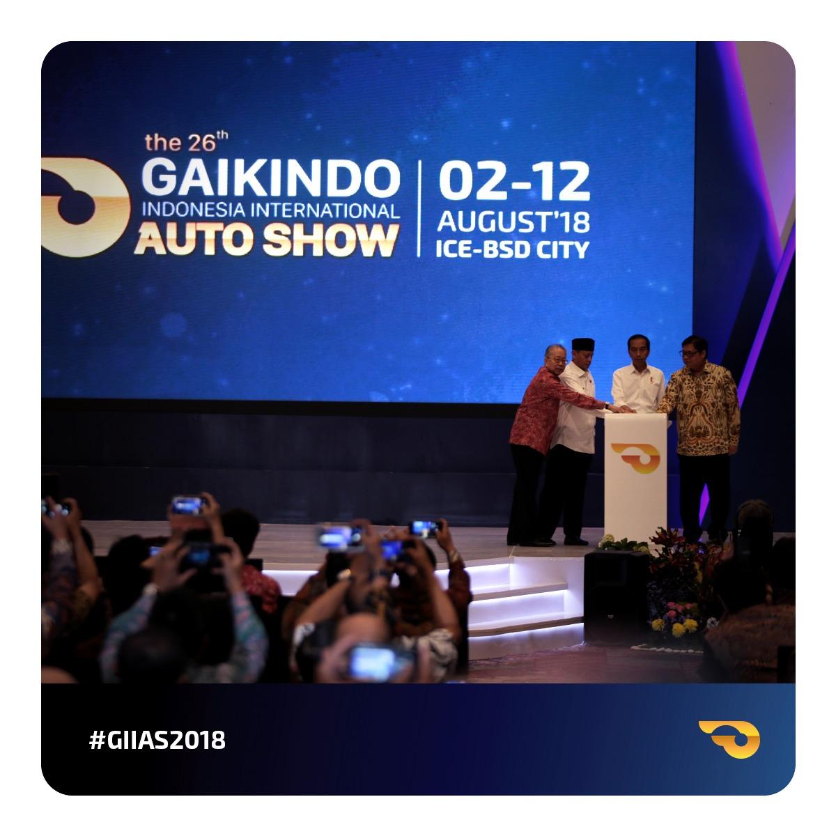 GIIAS 2018 Resmi Dibuka Langsung Oleh Presiden Joko Widodo