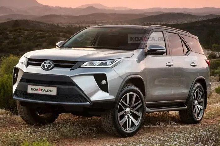 Diprediksi Meluncur Tahun Ini, Toyota Fortuner Facelift Tampil Makin Agresif dan Tegas